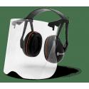 Protège oreilles gardener avec visière plexiglas