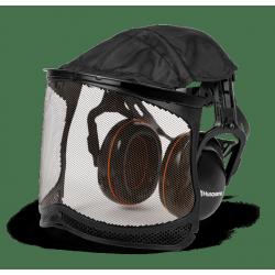 Protège oreilles avec visière grillagée