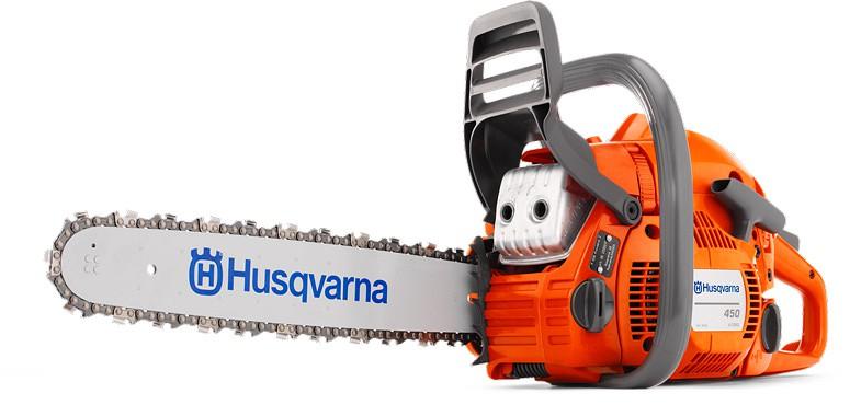 Tronçonneuse Husqvarna 450 45SN avec 2 chaines