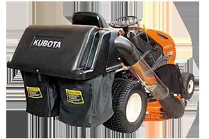 autoportée Kubota T1880 avec bac de ramassage