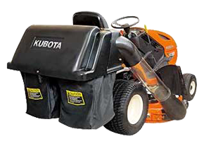Tondeuse autoportée Kubota T1880 avec bac de ramassage