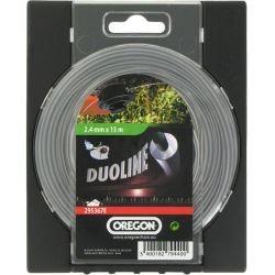 Bobine fil de debroussailleuse OREGON DUOLINE 2.4mm x 15m