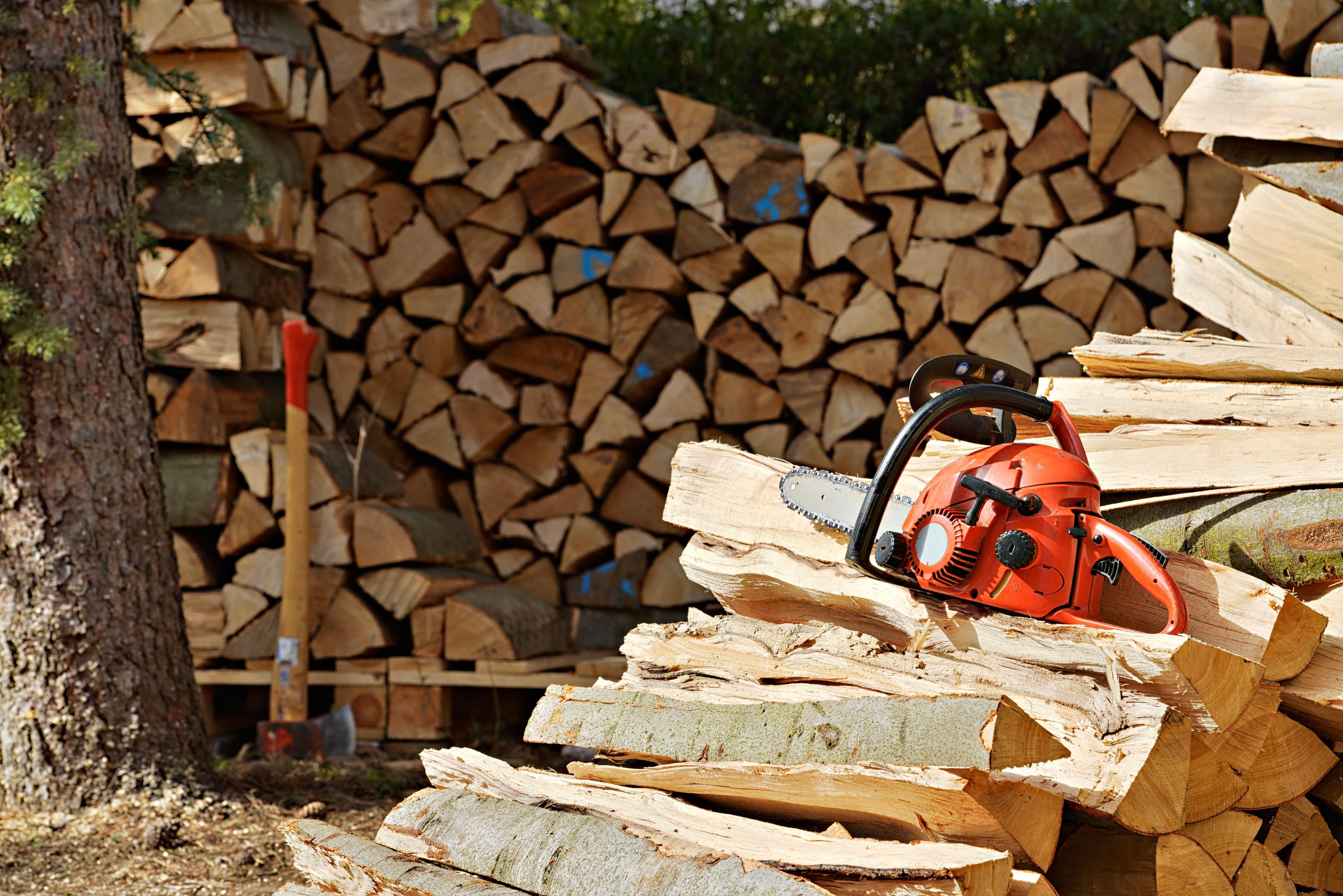 Tronçonneuse: Je coupe mon bois de chauffage