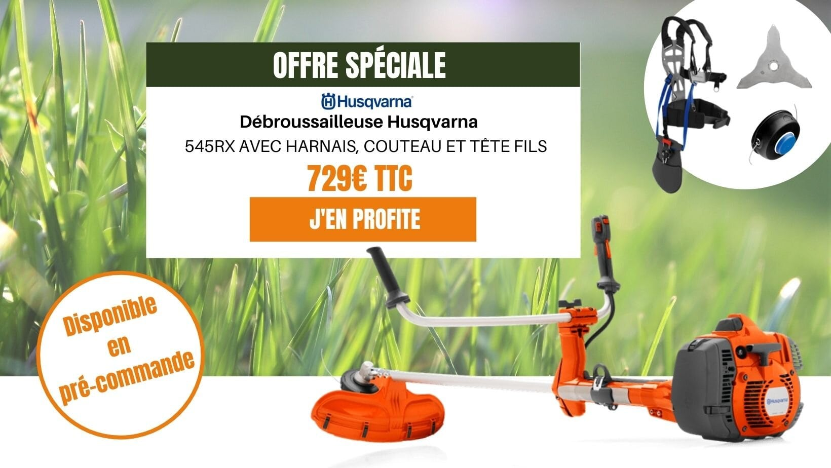 DÉBROUSSAILLEUSE THERMIQUE HUSQVARNA 543RS